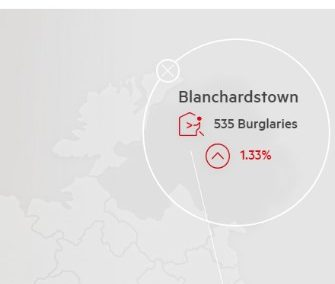 Burglary statistics Published By Phone watch for Blanchardstown April To June 2018