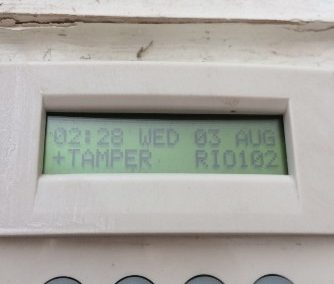 Alarm Tamper – why is the word tamper on my alarm system?